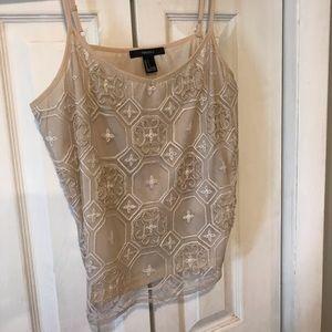 Never worn Forever 21 embellished camisole